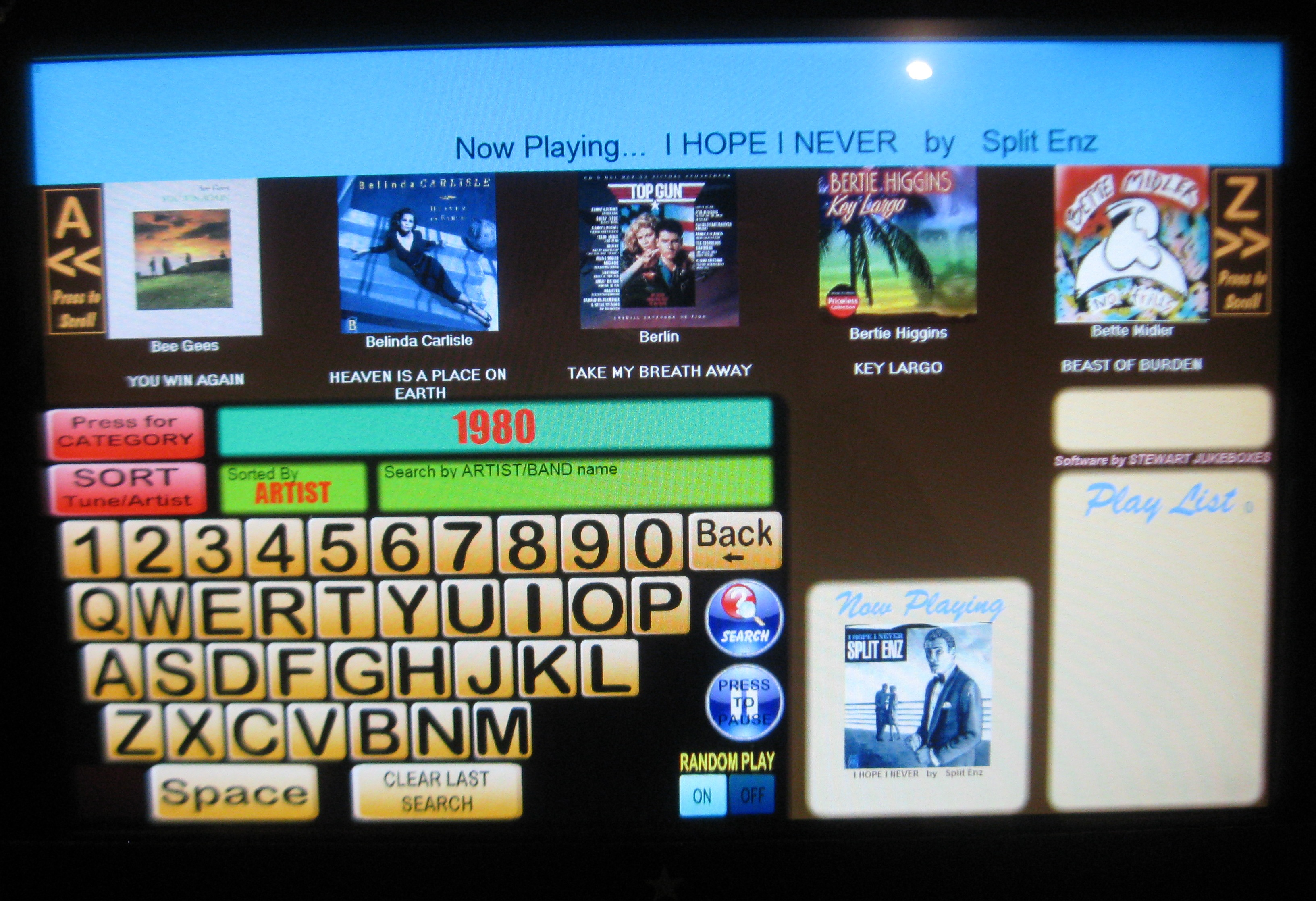 jukebox touchscreen